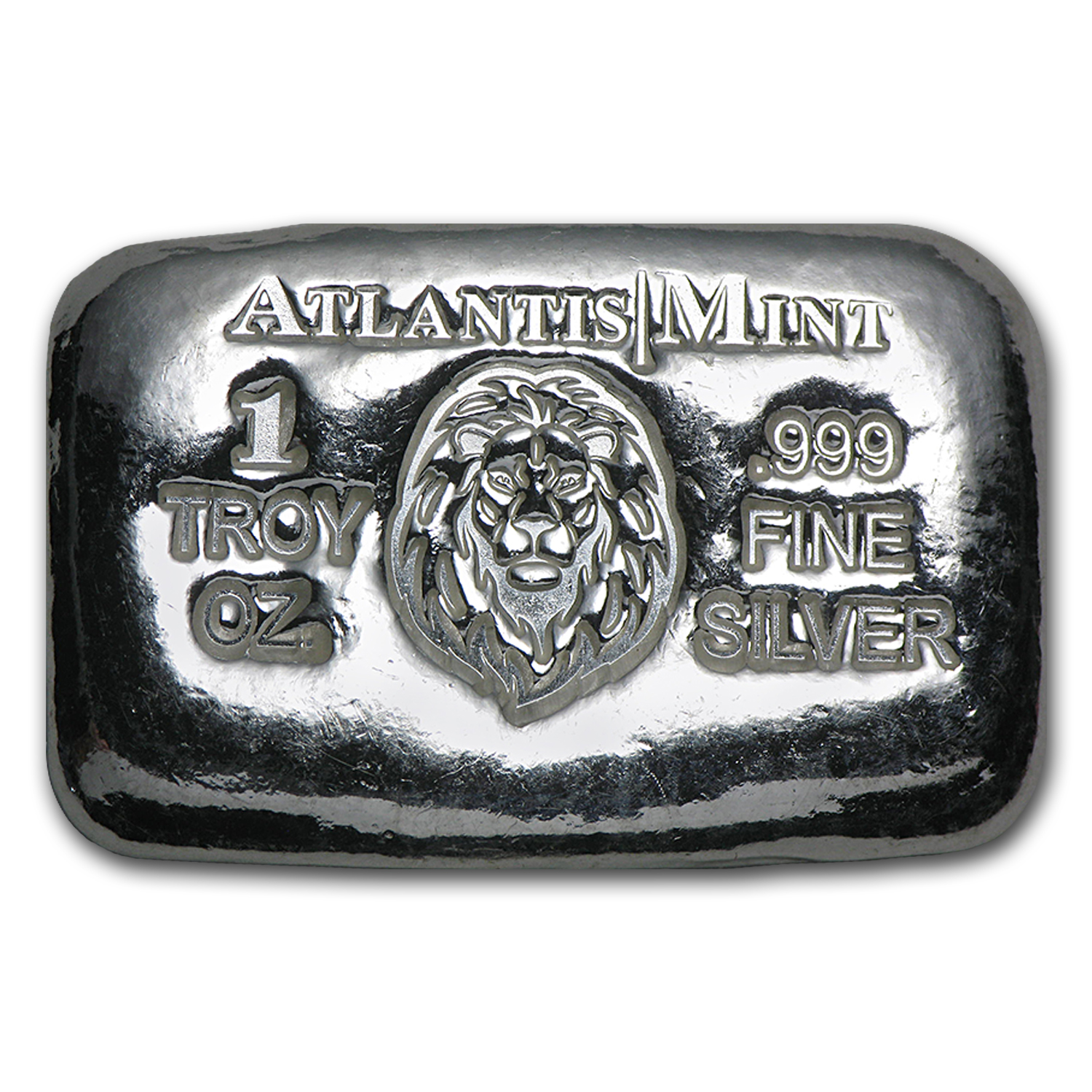1 oz Silver Bar - Atlantis Mint (Lion)