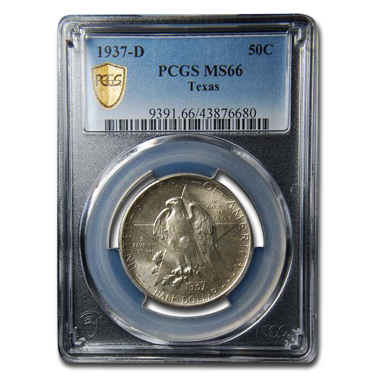 1937-D Texas Half Dollar MS-66 PCGS