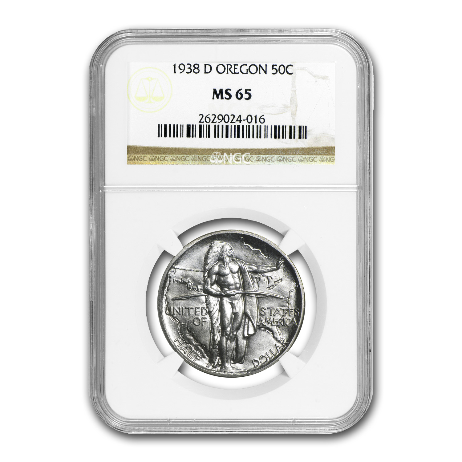 1938-P-D-S Oregon Trail Half Dollar 3-Coin Set MS-65/65/65 NGC