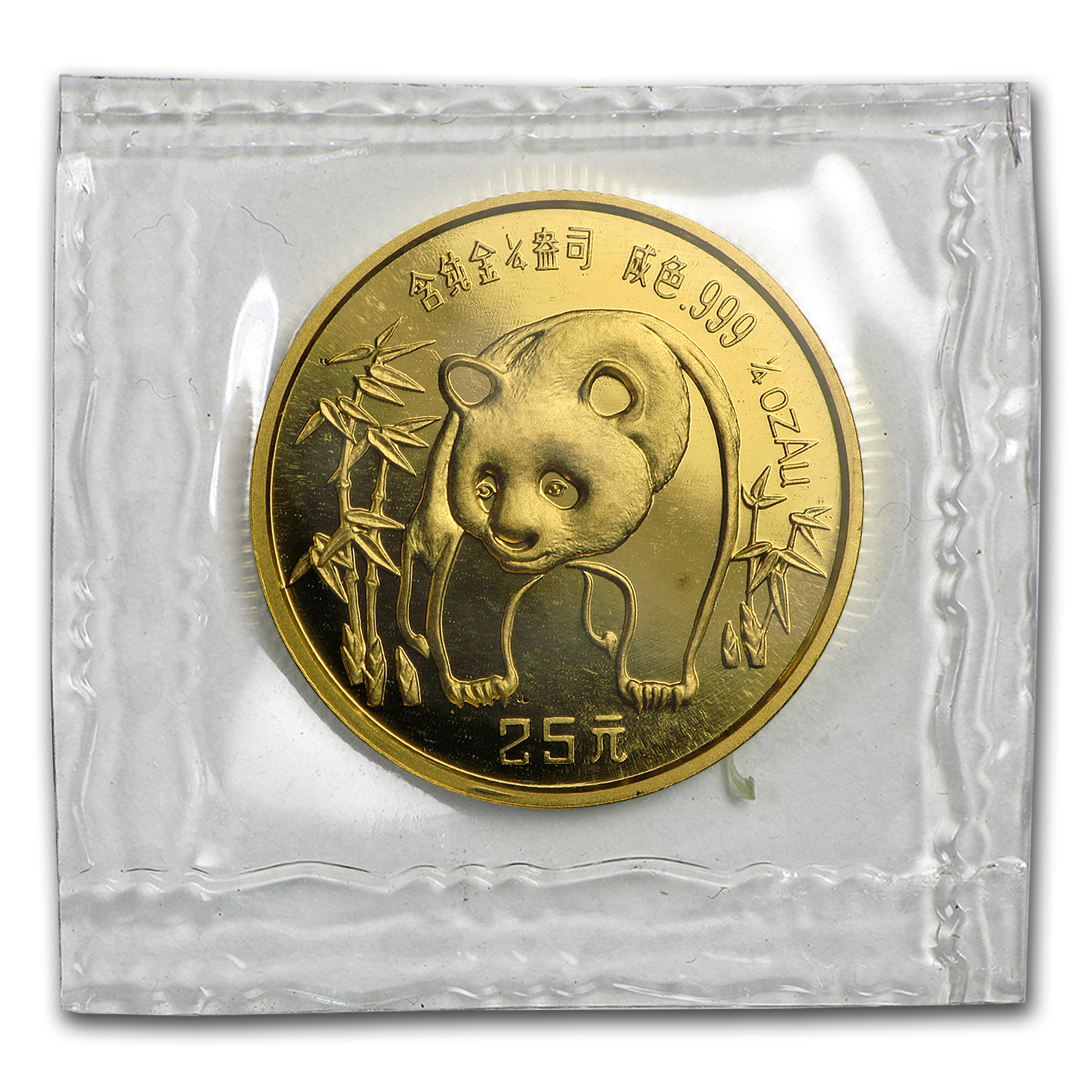 1986 China 1/4 oz Gold Panda BU (Sealed)