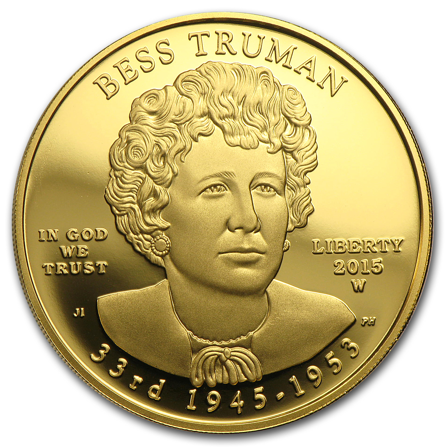 2015-W 1/2 oz Proof Gold Bess Truman (w/Box & COA)