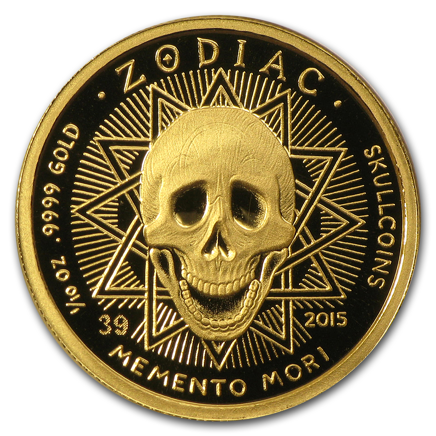 1/10 oz Gold Round Zodiac Series Pisces Proof