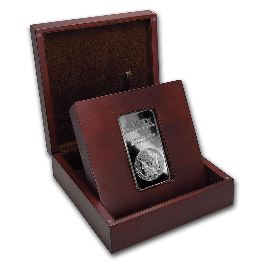 Apmex Wooden Gift Box 10 Oz Silver Bar Apmex