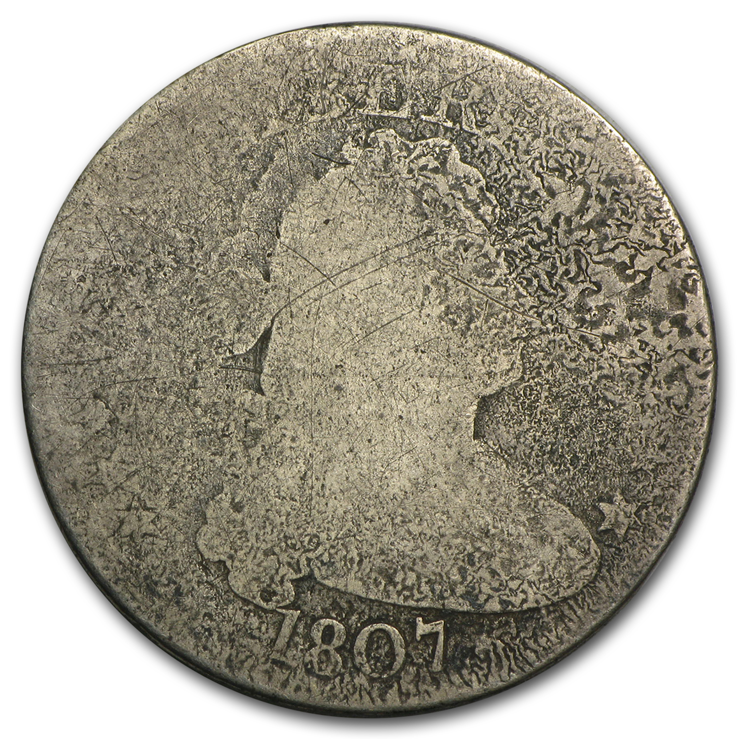 1807 Draped Bust Quarter Fair