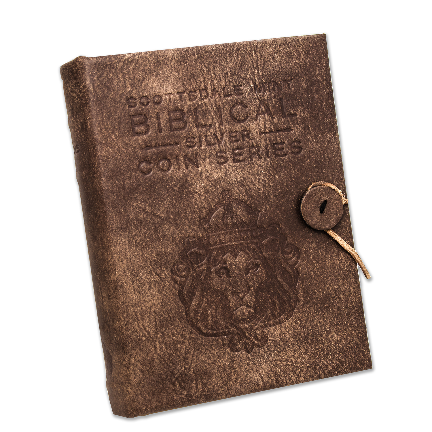 Leather 6-Coin Collector's Album - 2015 Biblical Series