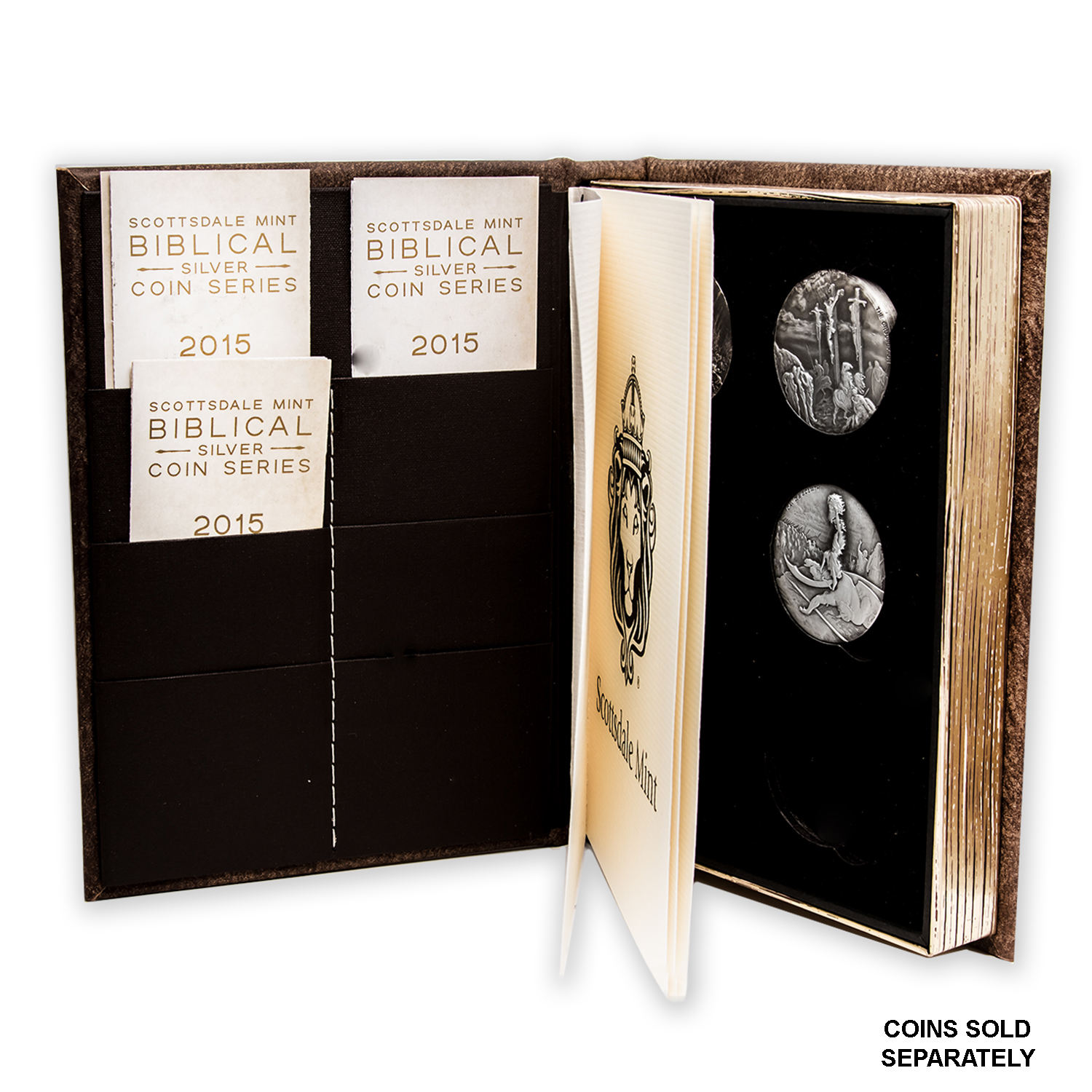 Leather 6 Coin Collectors Album Biblical Series