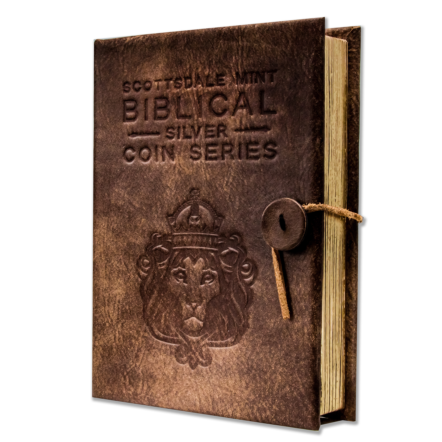 Leather 6-Coin Collectors Album - Biblical Series