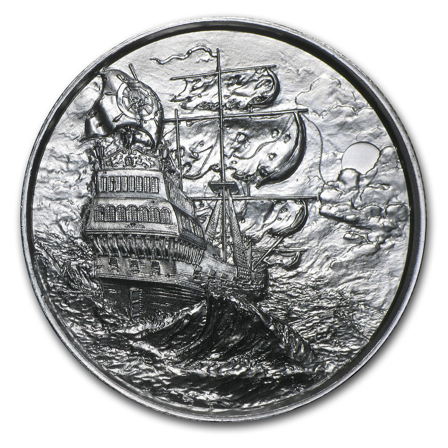 2 oz Silver Round - The Privateer (Ultra High Relief)