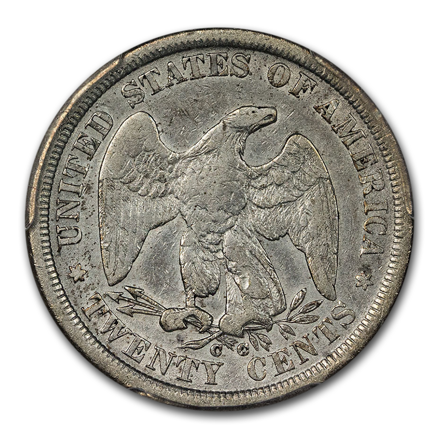 1875-CC Twenty Cent Piece VF-30 PCGS