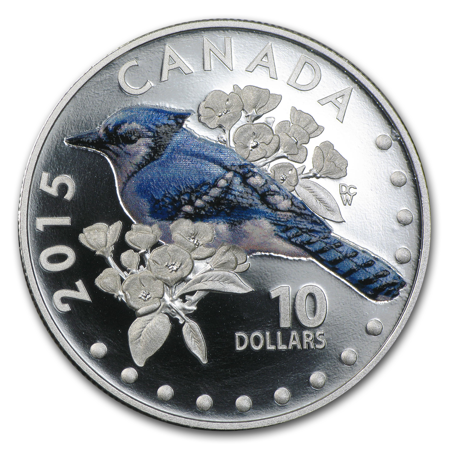 2015 Songbirds of Canada $10 Blue Jay (Colored)