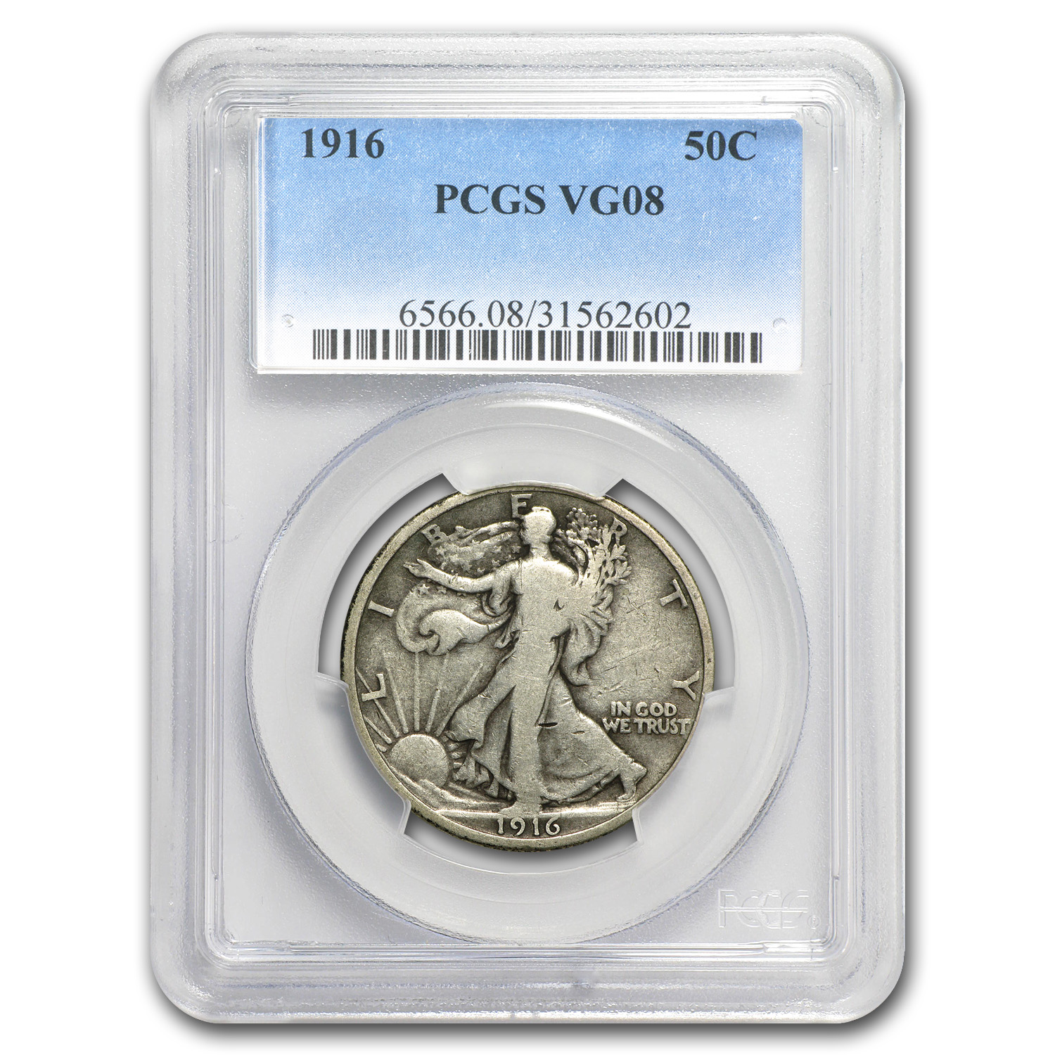 1916 Walking Liberty Half Dollar VG-8 PCGS