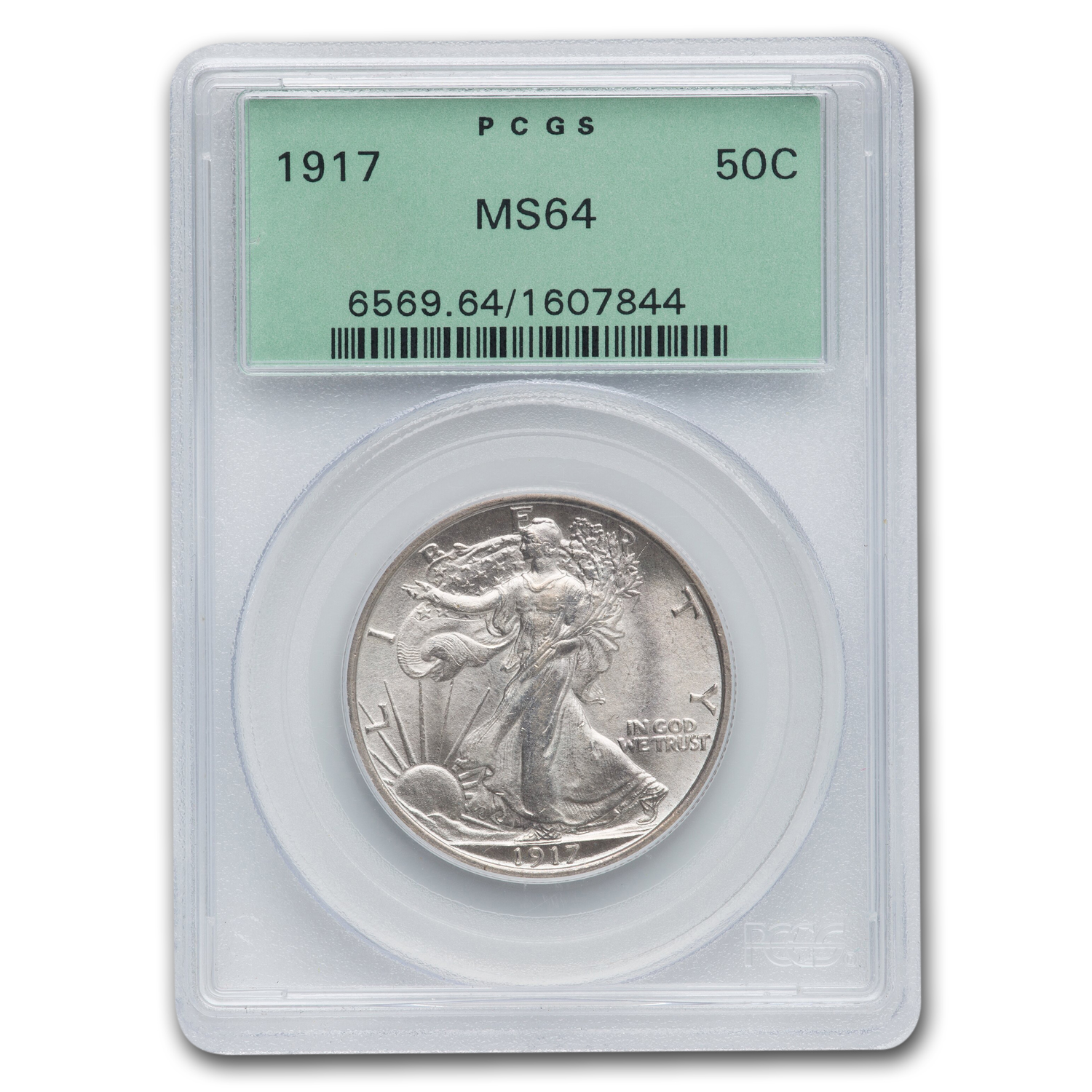 1917 Walking Liberty Half Dollar MS-64 PCGS