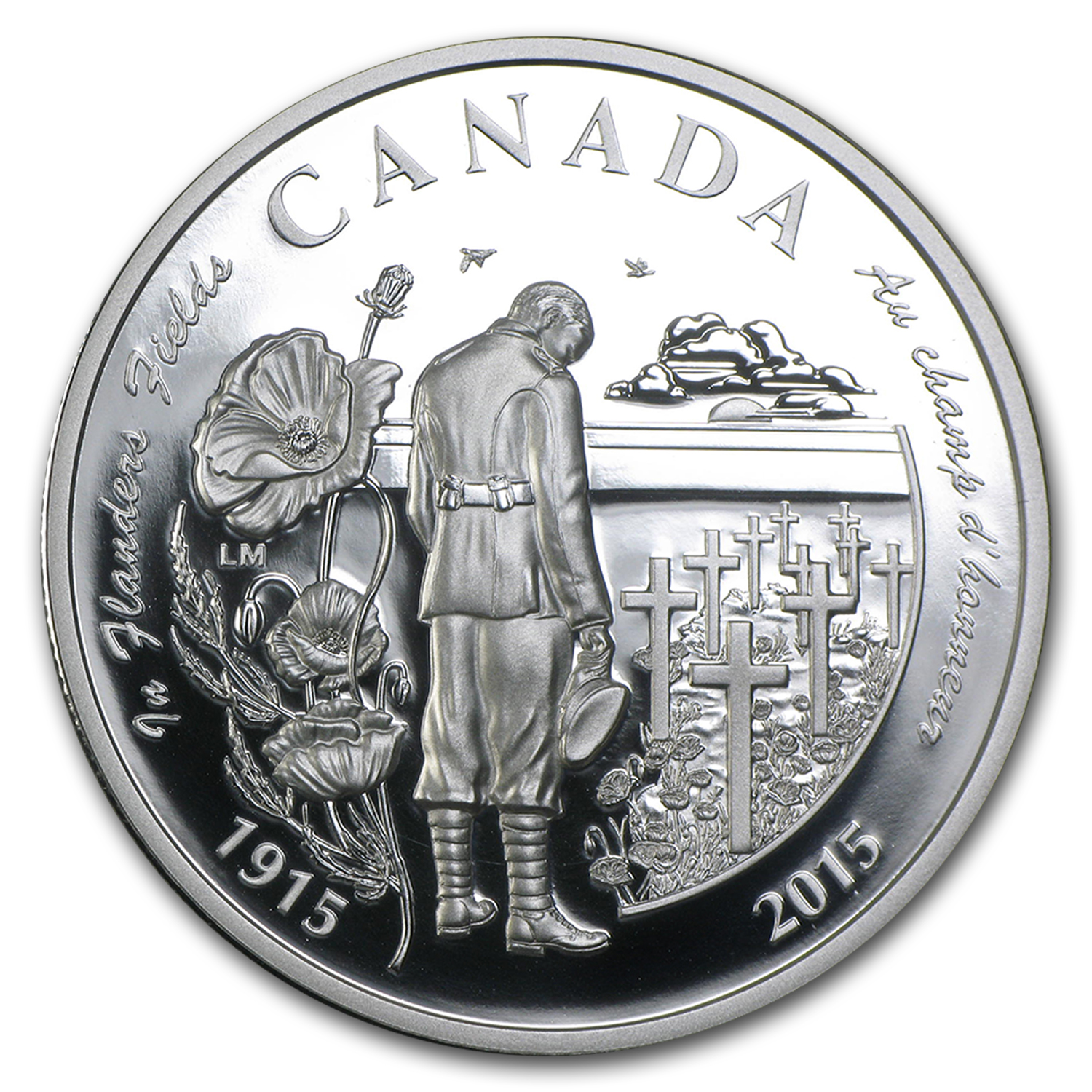"2015 Canada Silver $20 Proof 100th Anniv of ""In Flanders Fields"""
