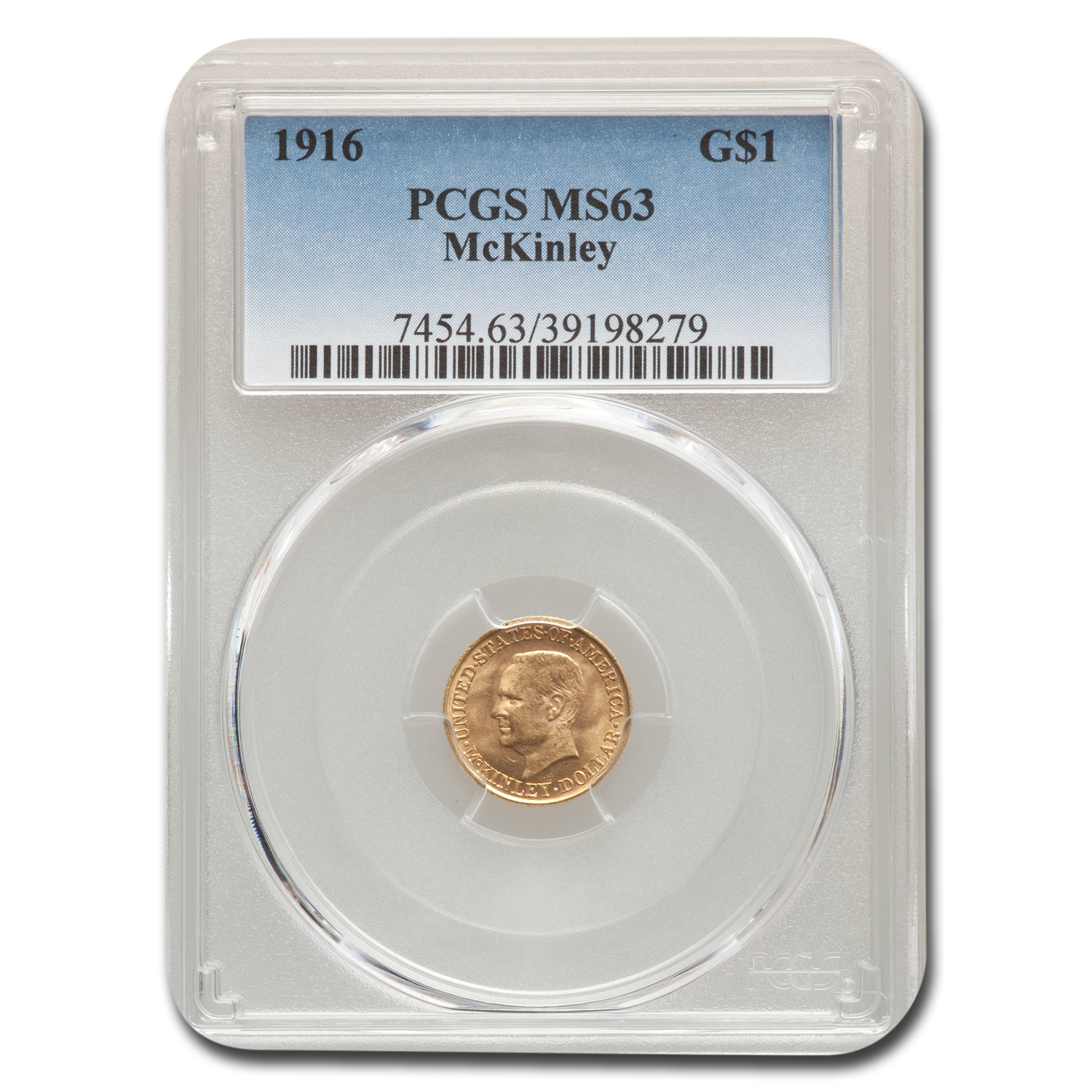 1916 Gold $1.00 McKinley MS-63 PCGS