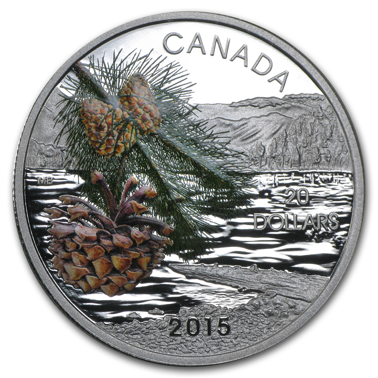2015 Canada 1 oz Silver $20 Forests of Canada Coast Shore Pine