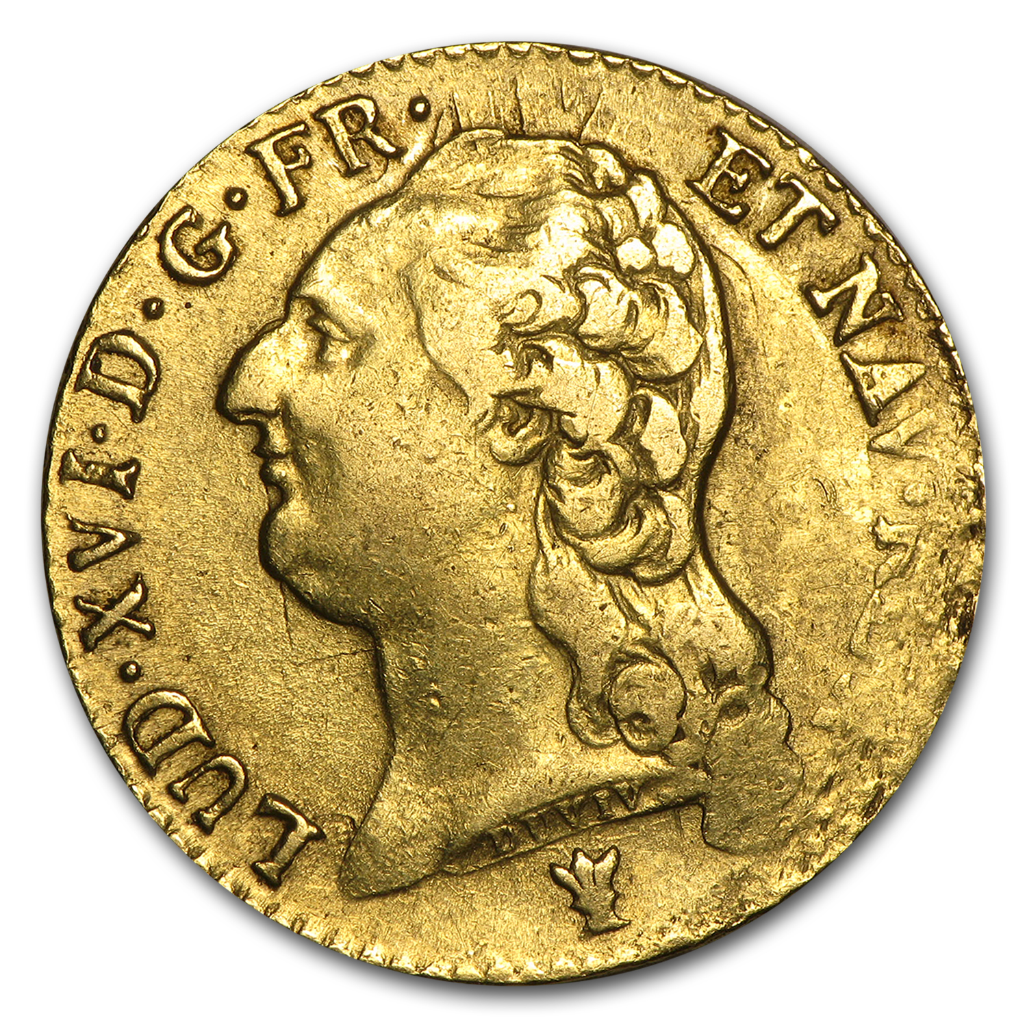 1786-I France Gold Louis D'or XF Details
