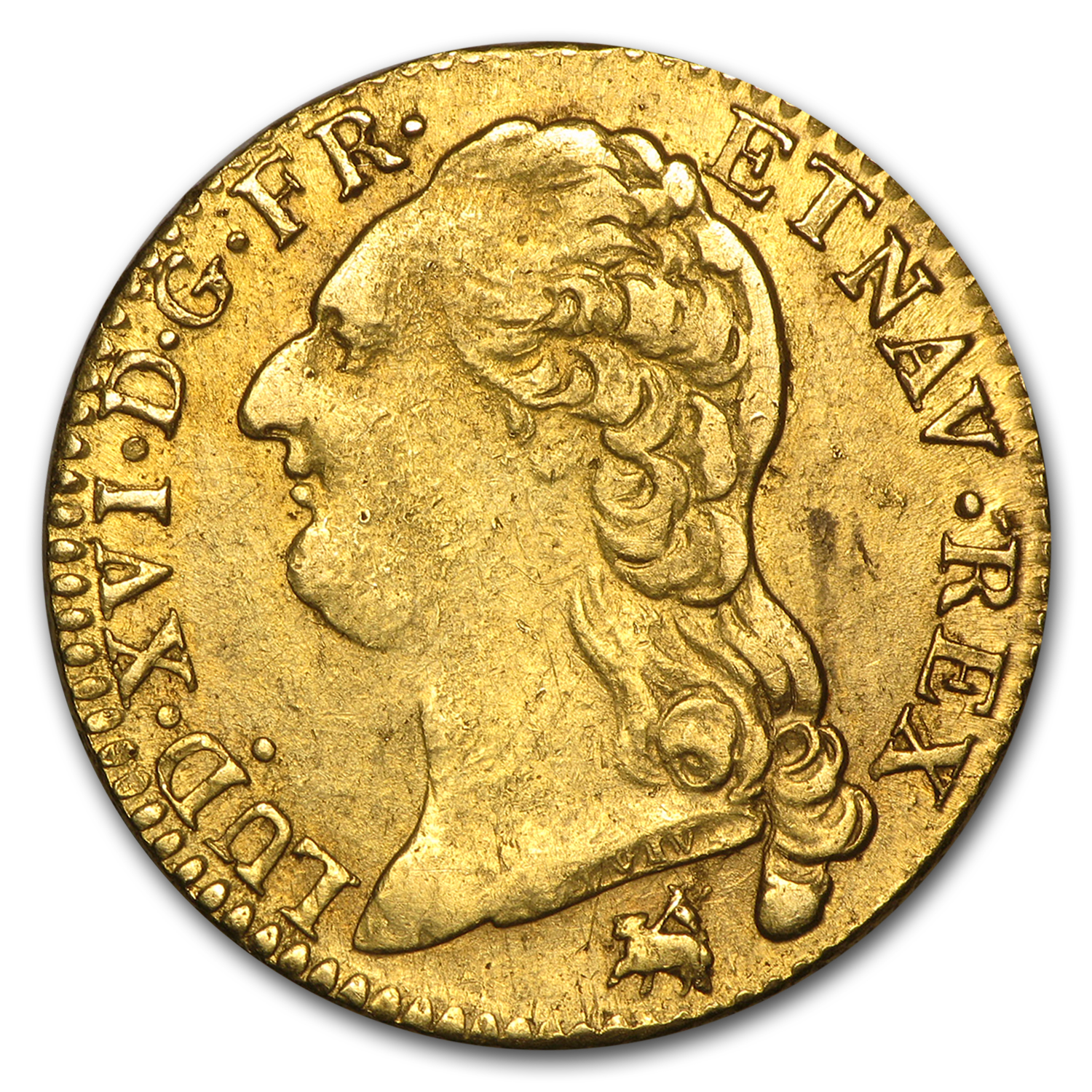 1786-B France Gold Louis D'or XF Details