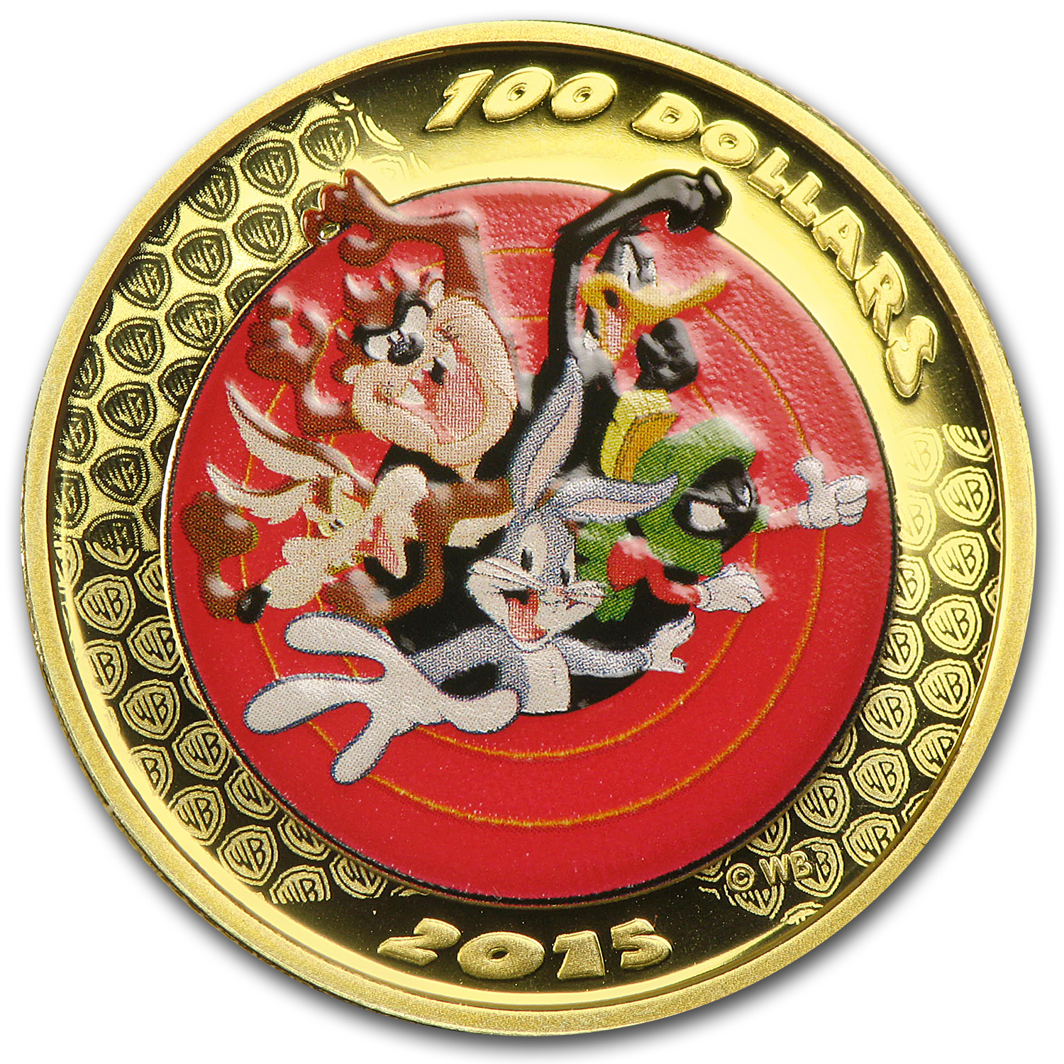 2015 Canada $100 Proof Gold Looney Tunes Bugs Bunny & Friends