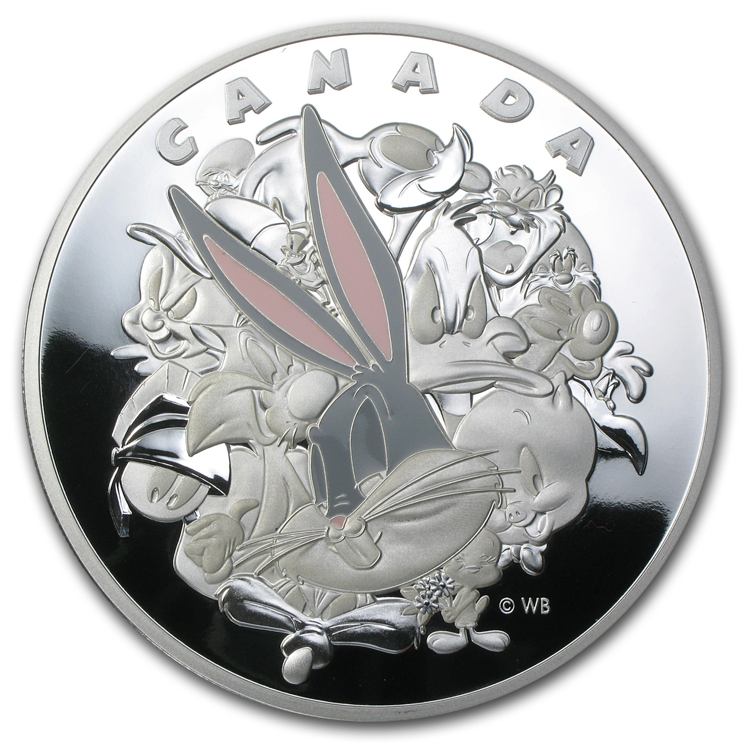 2015 Canada 1 Kilo Silver $250 Looney Tunes Ensemble Cast