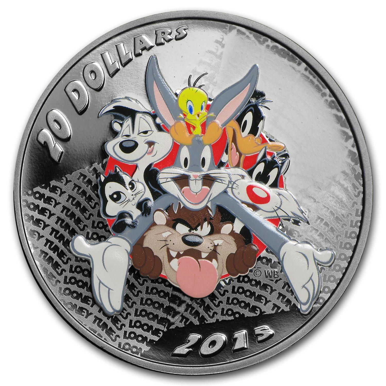 2015 Canada 1 Oz Silver 20 Looney Tunes Merry