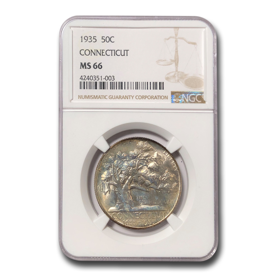 1935 Connecticut Tercentenary Half Dollar MS-66 NGC