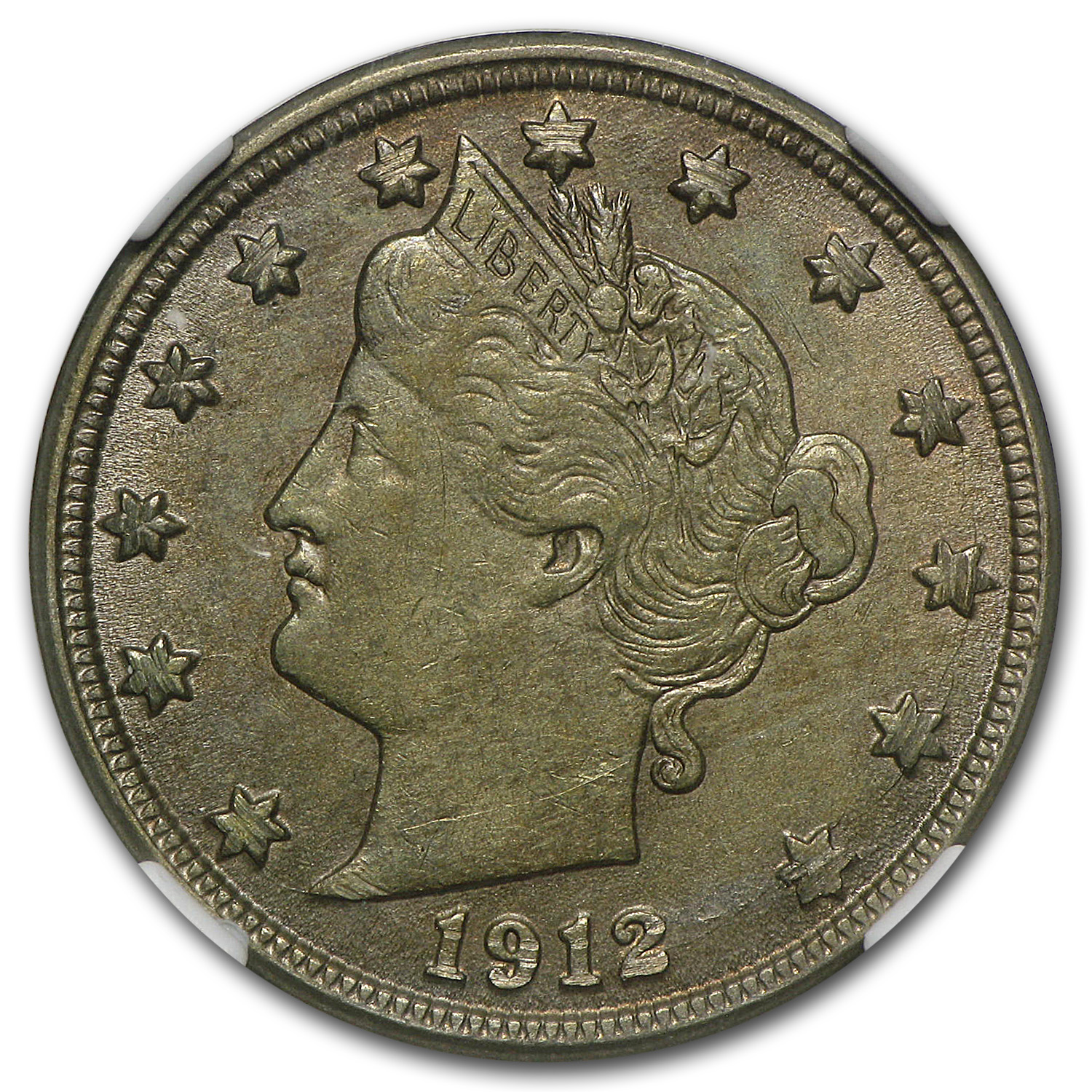 1912-D Liberty Head V Nickel AU-58 NGC