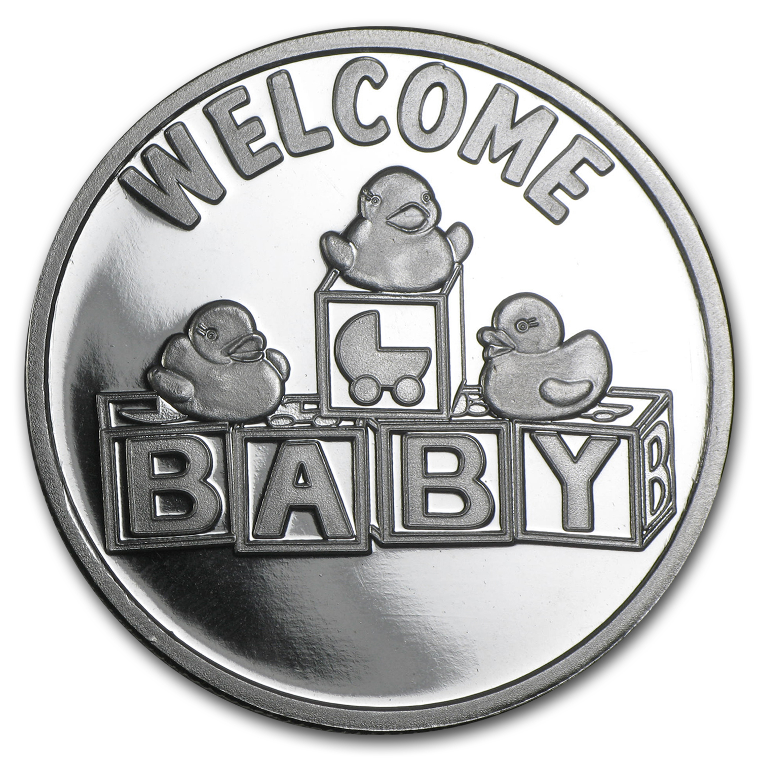 1 oz Silver Rnd - Welcome Baby blocks