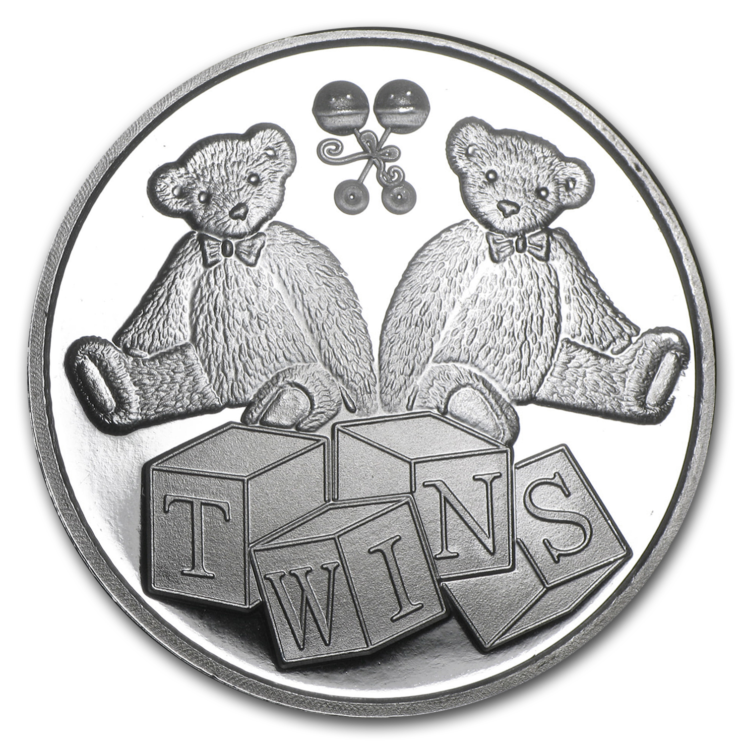 1 oz Silver Round - Twin Baby