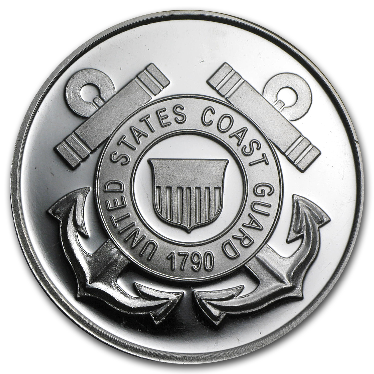 1 oz Silver Round - U.S. Coast Guard