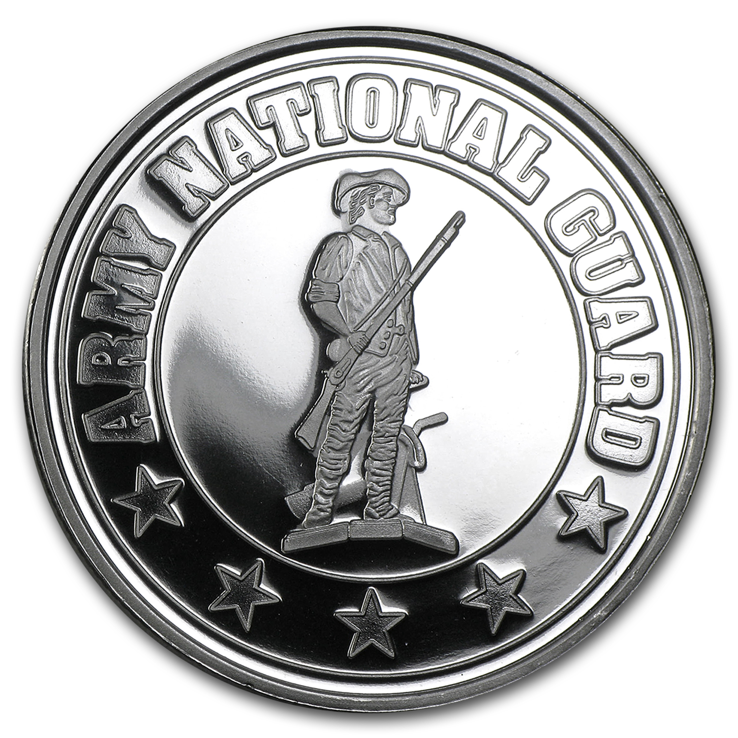 1 oz Silver Round - U.S. Army National Guard