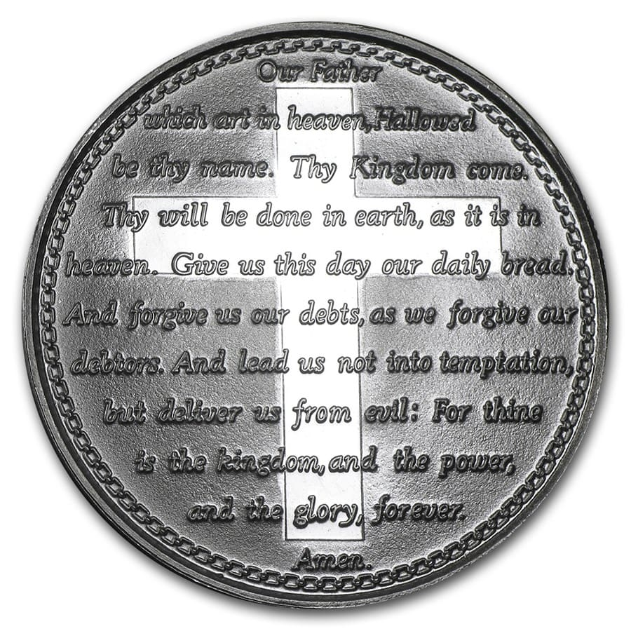 1 oz Silver Round - Lord's Prayer