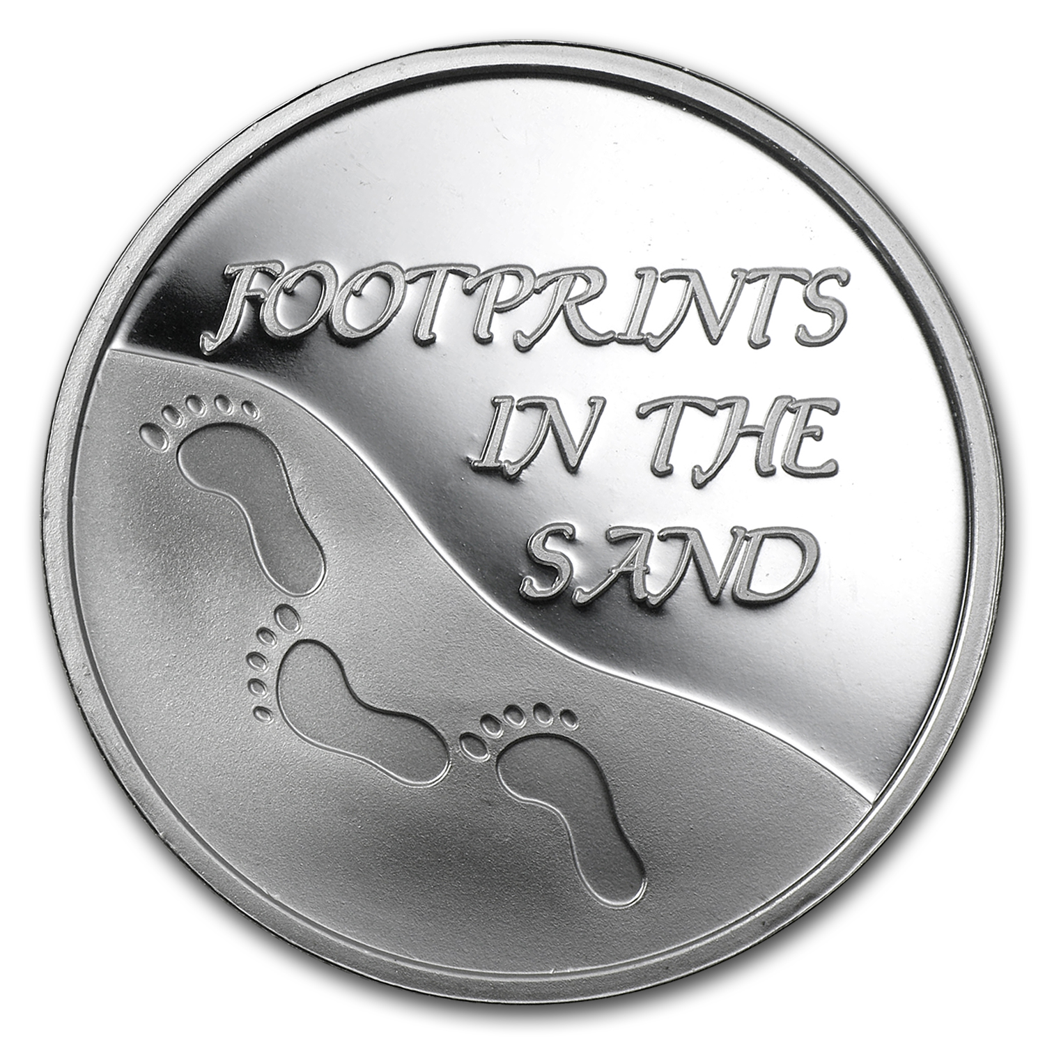 1 oz Silver Round - Footprints in the Sand
