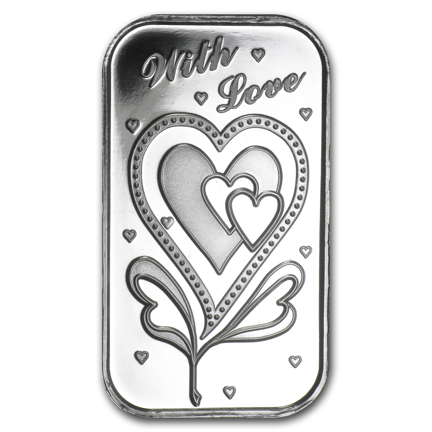 1 oz Silver Bar - With Love