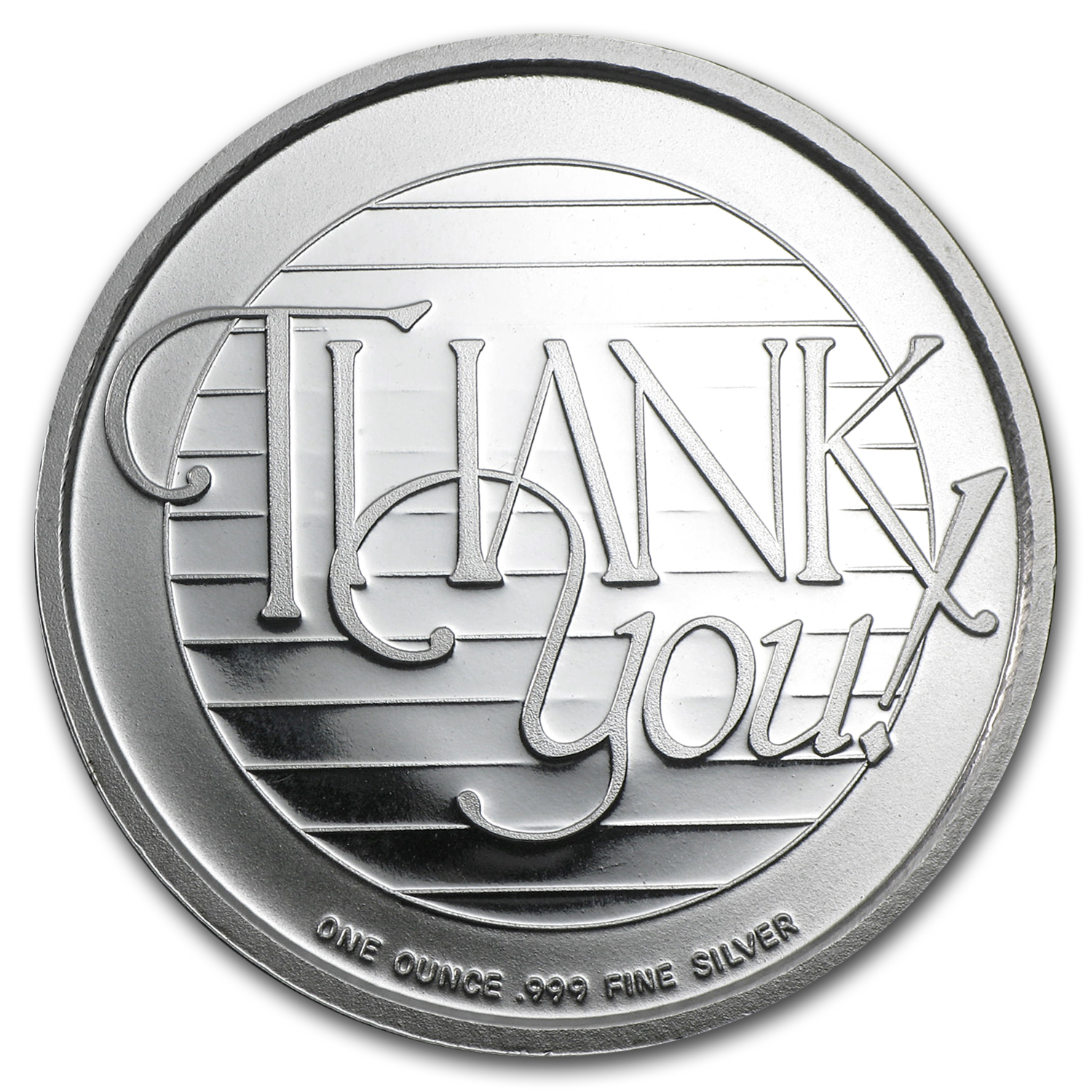 1 oz Silver Round - Thank You