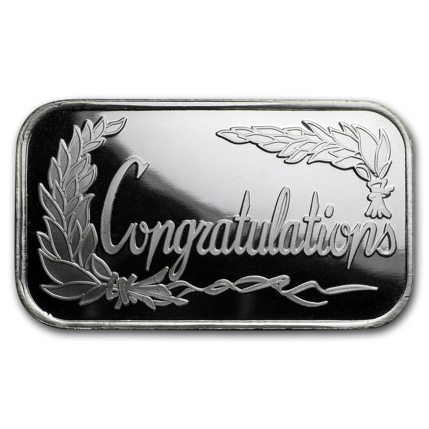 1 oz Silver Bar - Congratulations