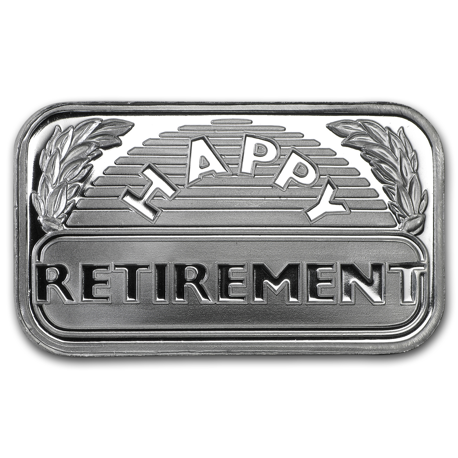 1 oz Silver Bar - Happy Retirement