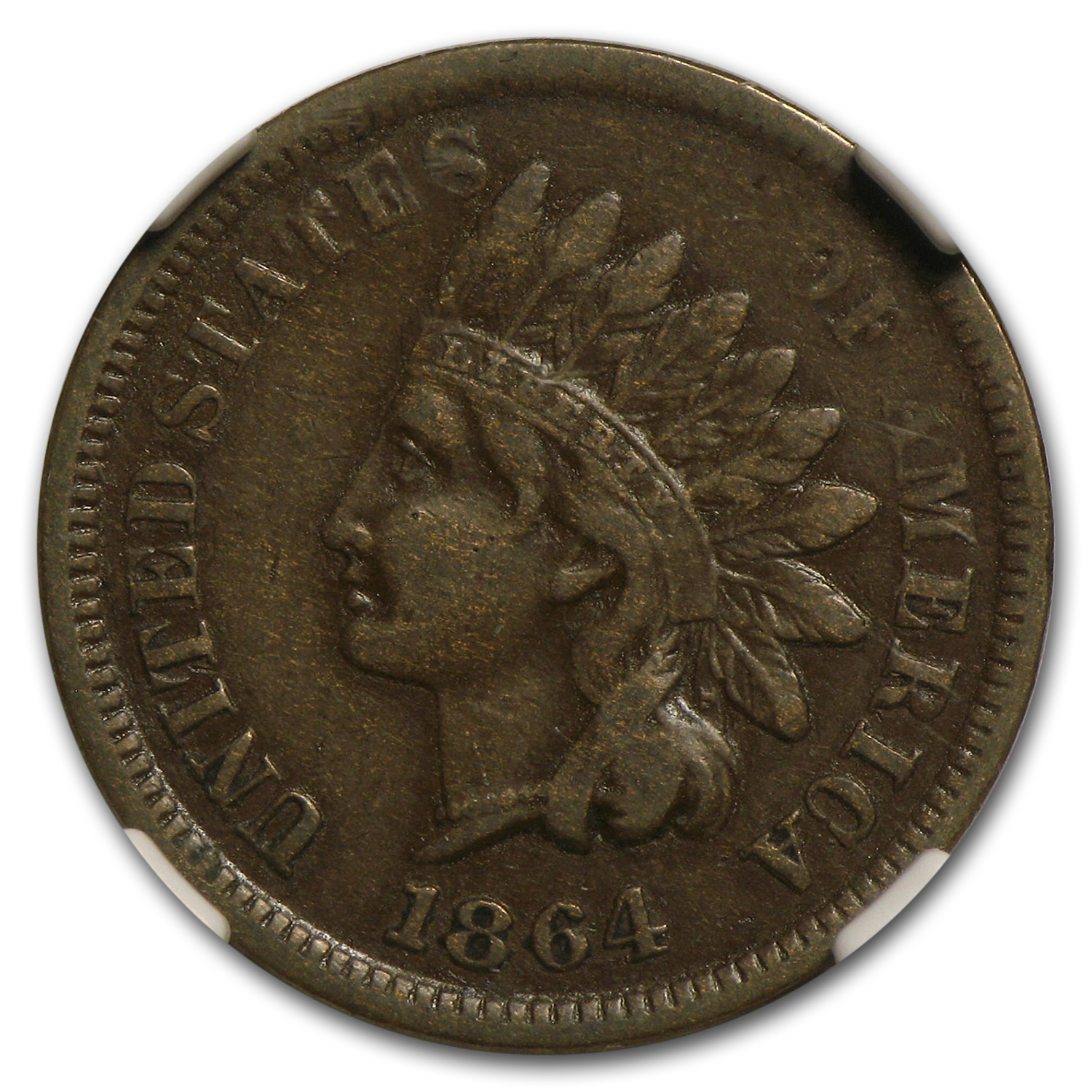 1864-L Indian Head Cent VF-30 NGC