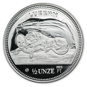 Switzerland 1/2 oz Proof Platinum Matterhorn