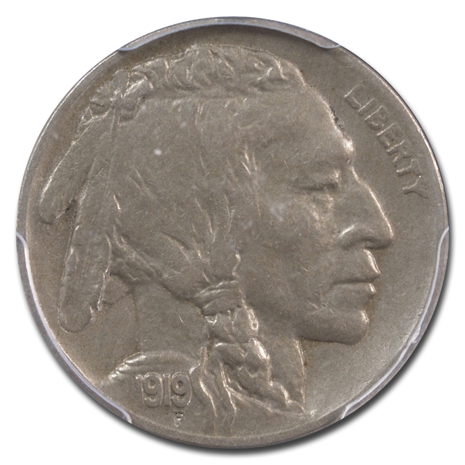1919-D Buffalo Nickel XF-45 PCGS