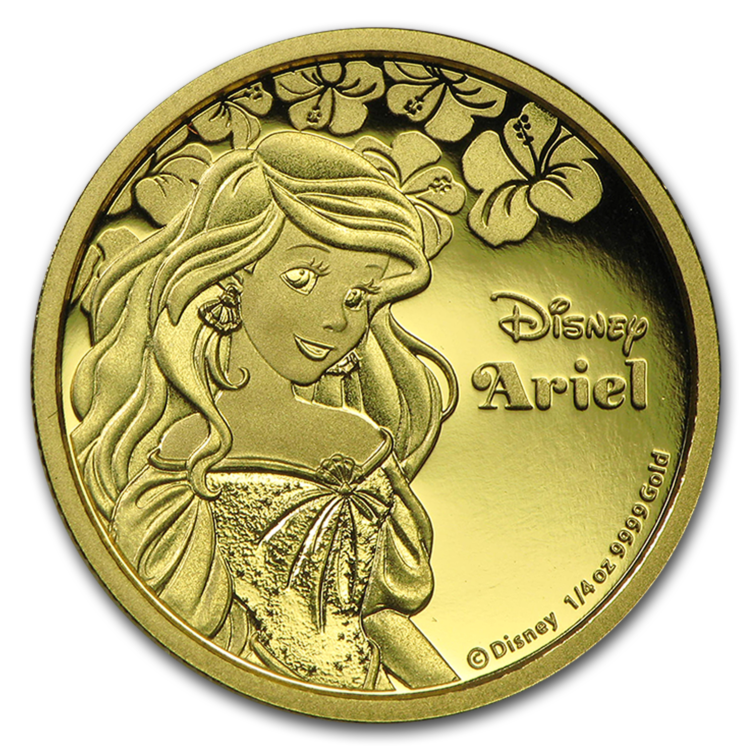 2015 Niue 1/4 oz Proof Gold $25 Disney Princess - Ariel