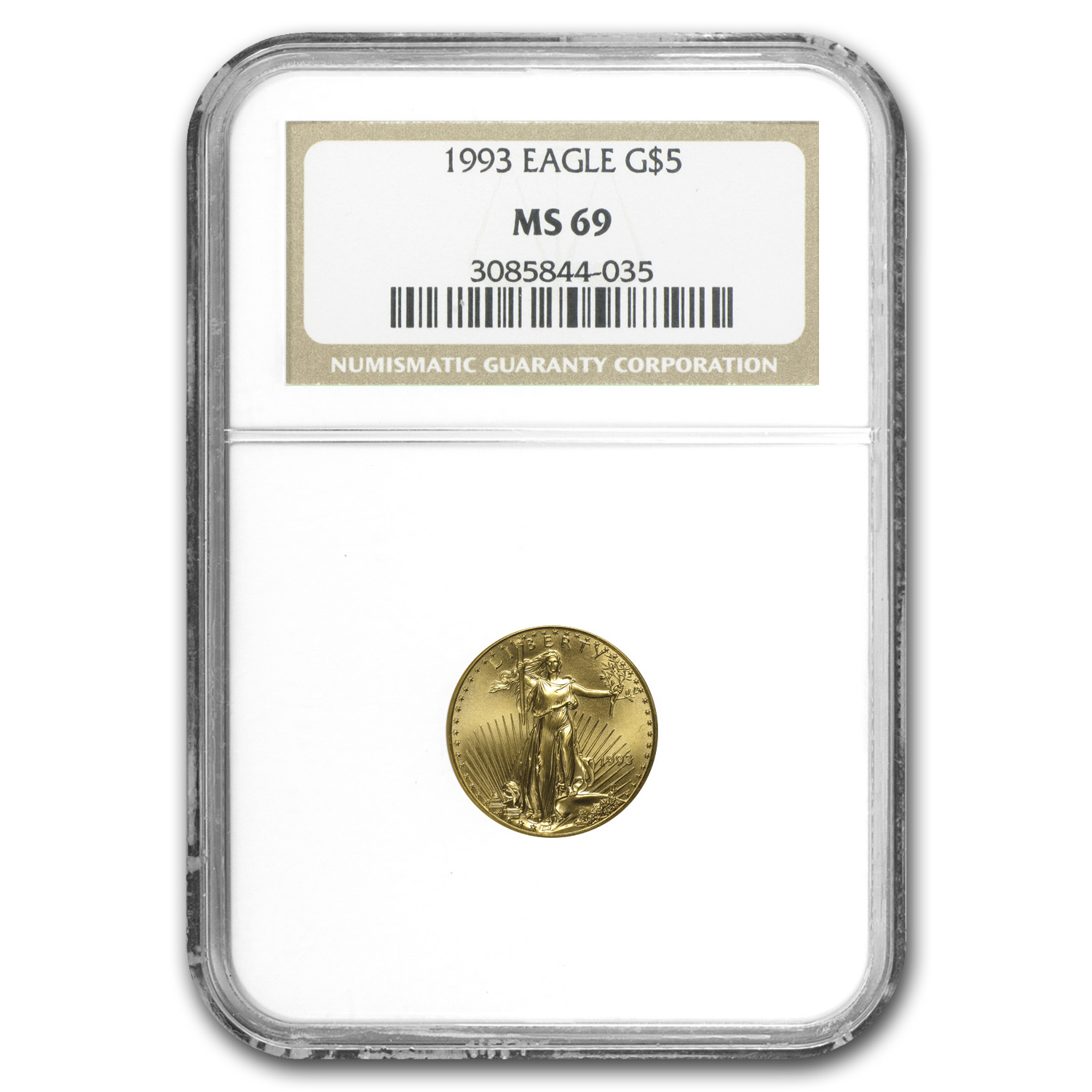 1993 4-Coin Gold American Eagle Set MS-69 NGC