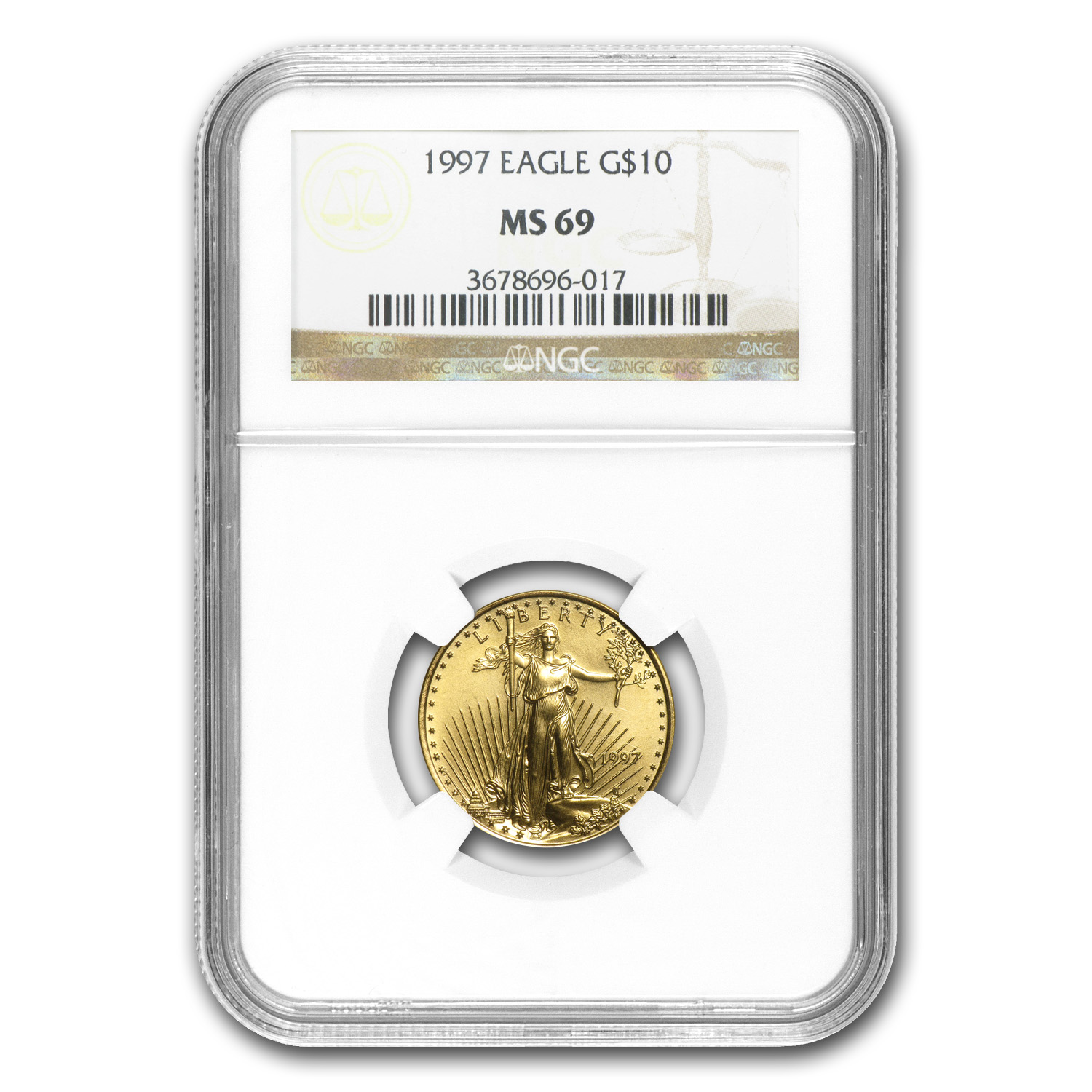 1997 4-Coin Gold American Eagle Set MS-69 NGC