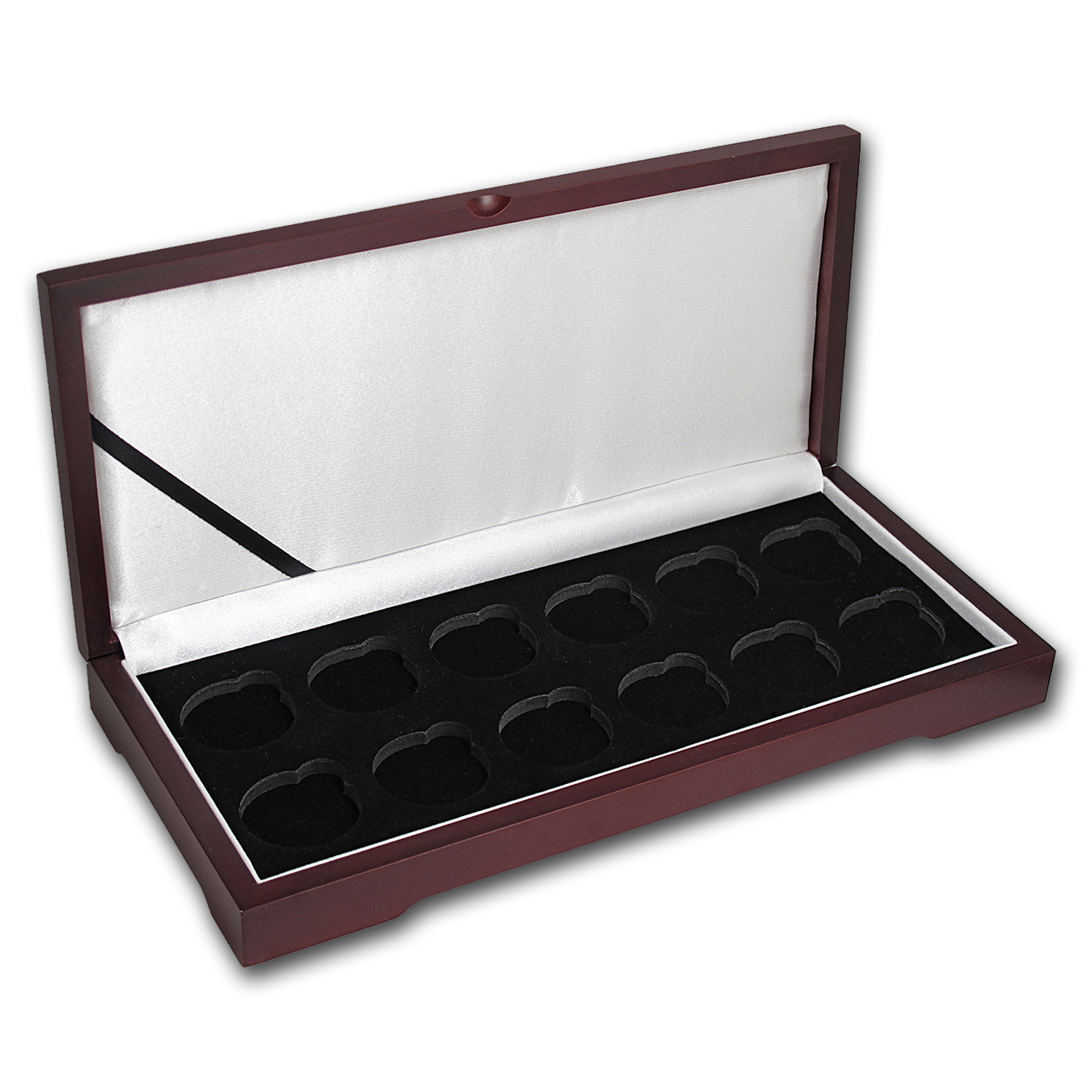 Lunar Series I (1 oz Gold) 12 Coin Wood Presentation Box