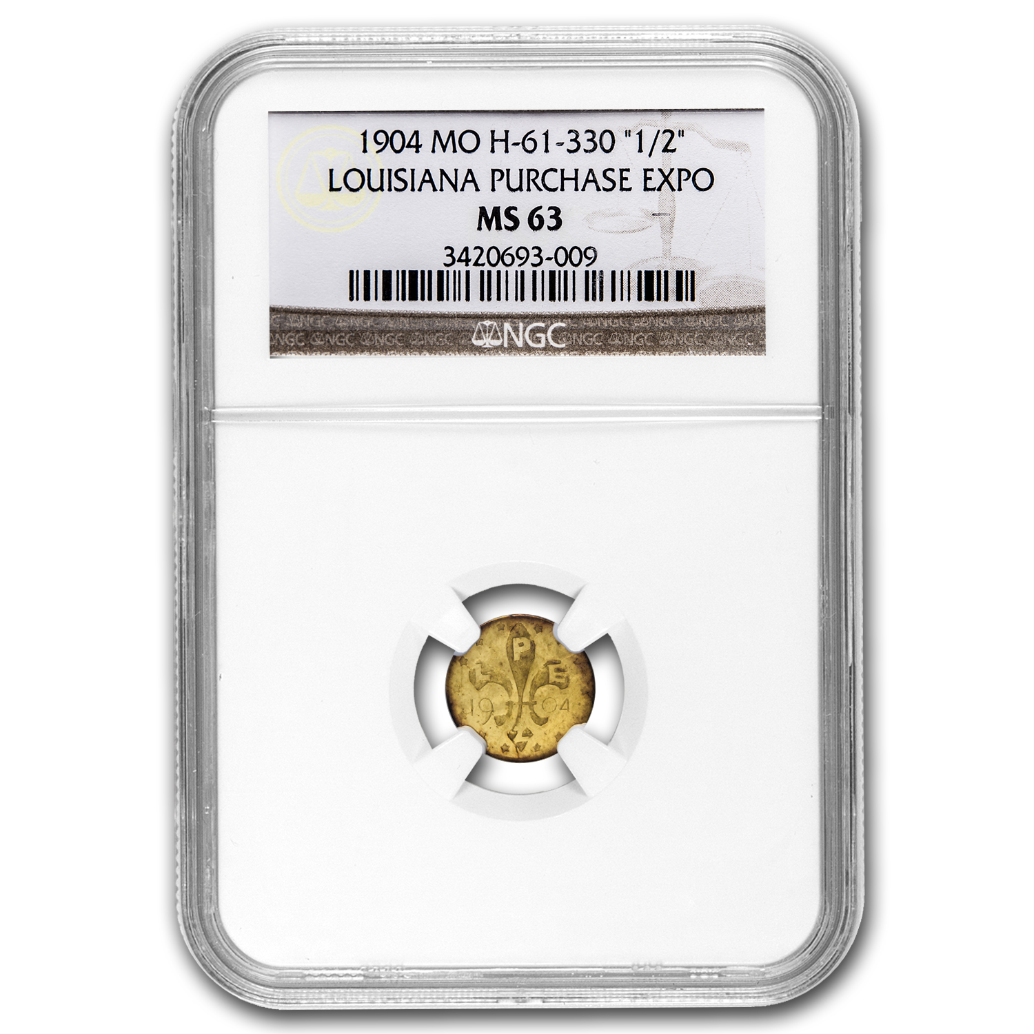 1904 Louisiana Purchase Expo Gold Token MS-63 NGC