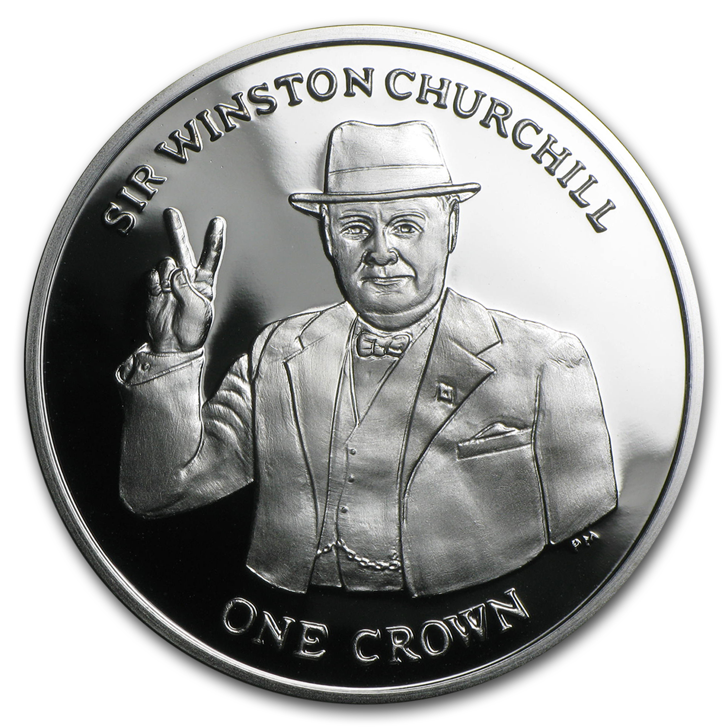 2015 Isle of Man Silver 1 Crown Sir Winston Churchill Proof