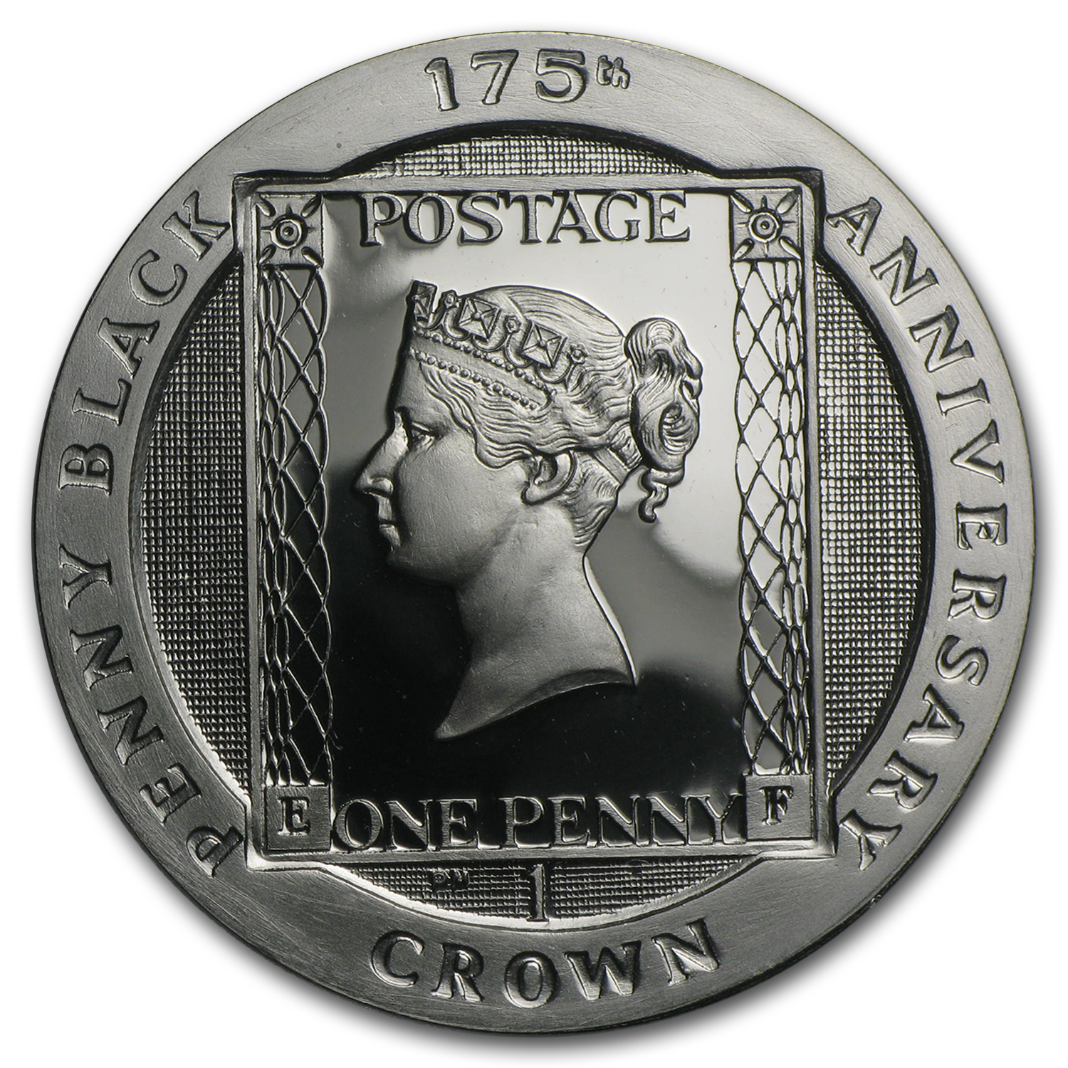 2015 Isle of Man Silver 1 Crown 175th Anniversary Penny Black