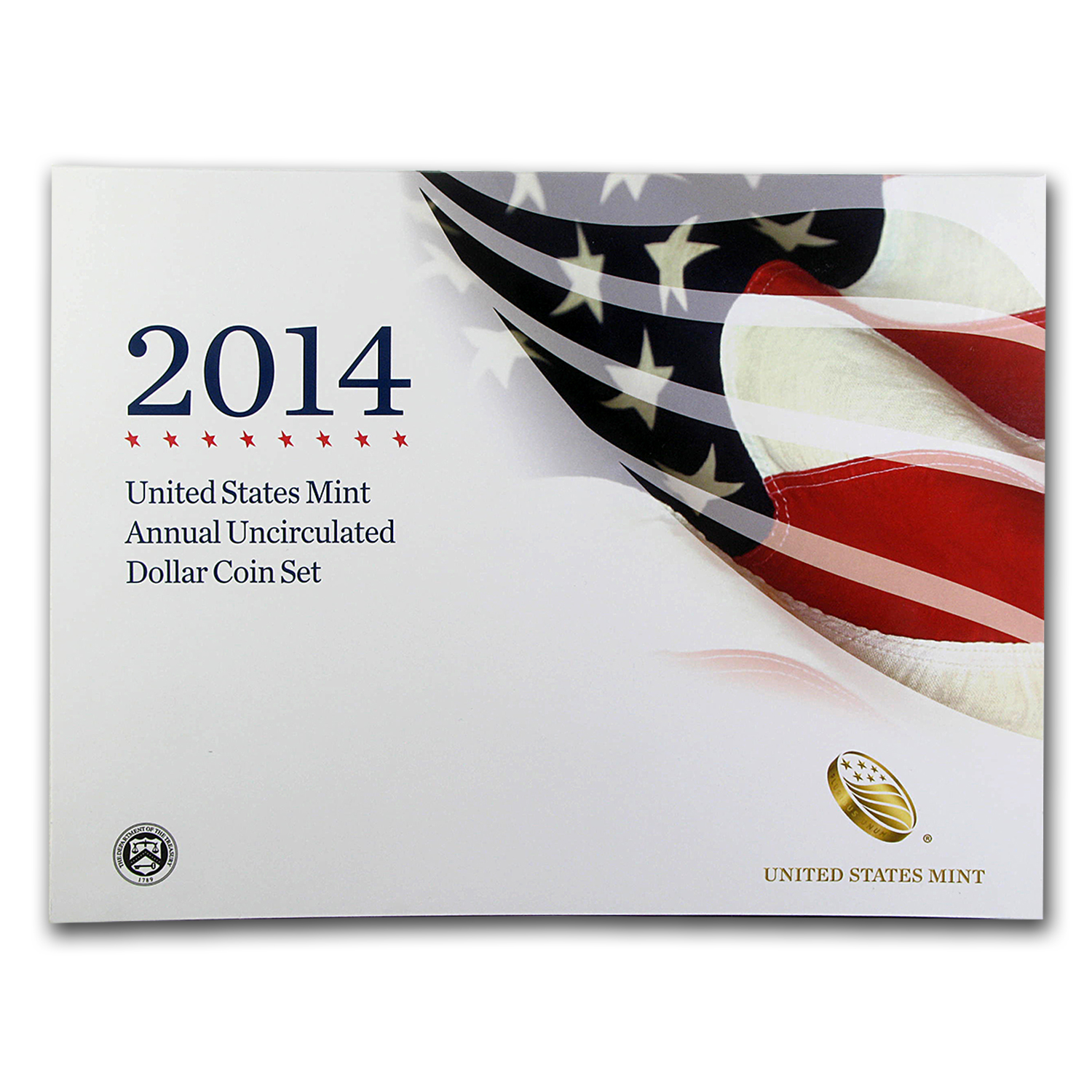 2014-W 6-Coin U.S. Mint Annual Uncirculated Dollar Set