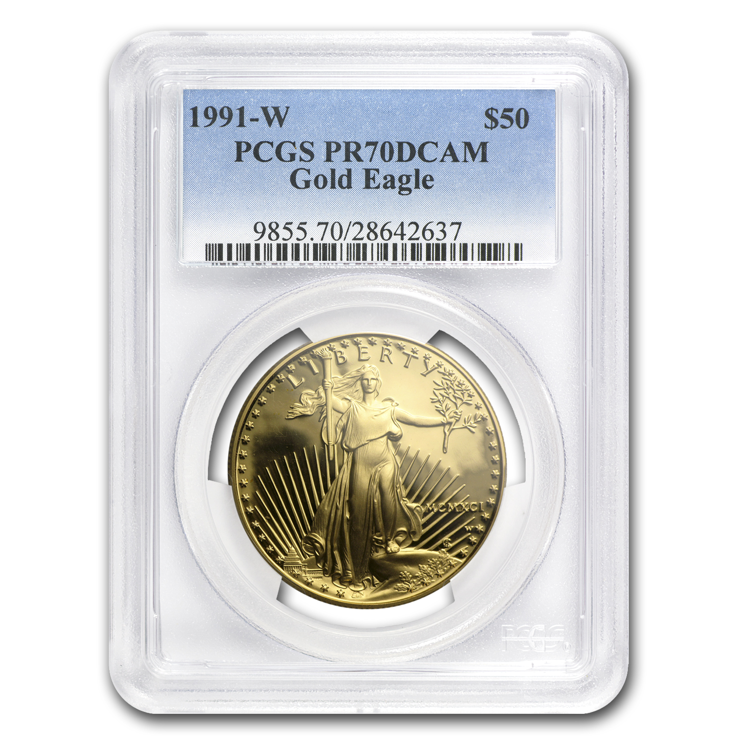 1991 4-Coin Proof Gold American Eagle Set PF-70 PCGS