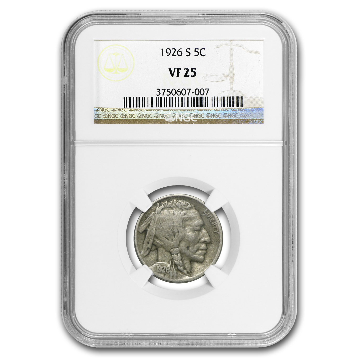 1926-S Buffalo Nickel VF-25 NGC
