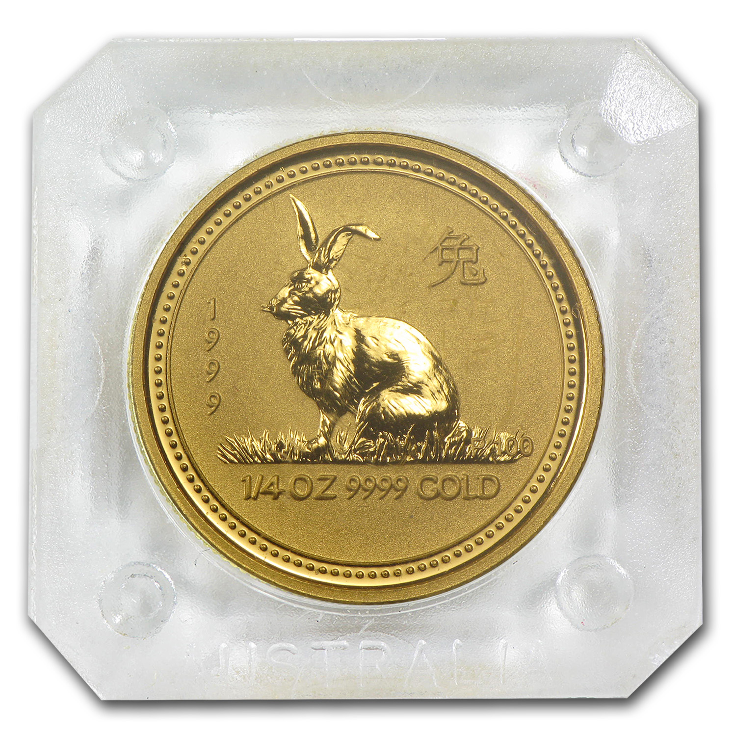1999 1/4 oz Gold Lunar Year of the Rabbit BU (Series I)